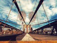 Kurt Krause: Brooklyn Bridge New York Leinwandbilder Brooklyn Bridge New York, Vinyl, Golden Gate Bridge, Poster, Wall Art, Travel, Products, Material, Bunt