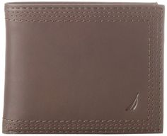 Nautica Men's Ashore Passcase Wallet: Nautica Ashore passcase wallet with exterior sailboat logo, bill compartments, four credit card pockets, extra storage compartments and removable pass Branded Wallets, Fashion Brands, Storage Compartments, Extra Storage, Sailboat, Exterior, Pockets, Logo, Style