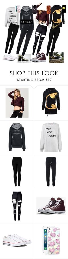 """""""Squad #2"""" by evil-master-mind ❤ liked on Polyvore featuring Full Tilt, WithChic, Ashish, Converse, Wolford, Zoe Karssen and Skinnydip"""