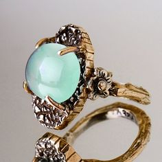 Blue Chalcedony Twig Ring.