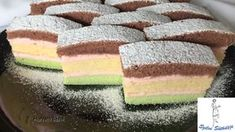 Árvácska szelet Hungarian Recipes, Hungarian Food, Cake Bars, Confectionery, Diy Food, Vanilla Cake, Nutella, Cake Recipes, Food And Drink