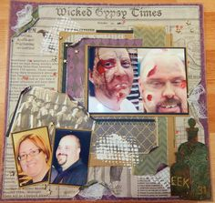 The Walking Dead Layout with Wicked Gypsy Paper Collection | Attic Inspired Crafter