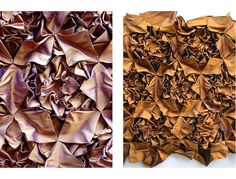 Fabric Manipulation - tessellating textile textures - inspiring dimensional patterns with silk taffeta // anachronic via flickr