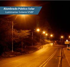 Luminarias Solares vsbp para alumbrado público solar