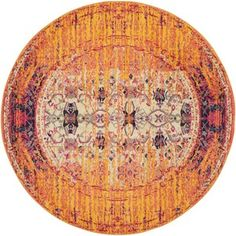 Safavieh Monaco Modern Abstract Orange/ Multi Rug