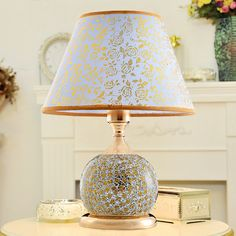 Led Desk Lamp Lustre Modern Table Lamp Reading Study Light Bedroom Bedside Lights Fabric Lampshade Home Lighting Design Lamps #Affiliate