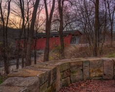 Sunset in the Cuyahoga Valley National Park. Covered Bridges, National Parks, November, Photo And Video, Sunset, Places, Pictures, Beauty, November Born