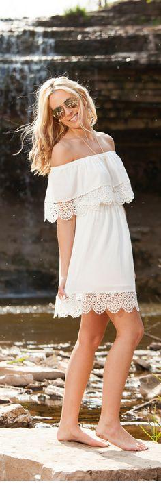 Boho cold shoulder dress | Inspirationindulgence.com