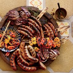 Plus: F&W's Grilling Guide Great Grilled Appetizers... Sausage Recipes, Pork Recipes, Wine Recipes, Easy Recipes, Keto Recipes, Grilled Sausage, Grilled Pork, Grilling Recipes, Cooking Recipes