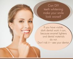 Can DIY Teeth Whitening make your smile look worse? http://www.quincysmilecenter.com/cosmetic-dentistry/index.html