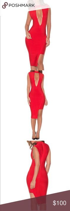 House of CB/Celeb Boutique Bandage dress Very sexy! Thick bandage material! #reposhed Missguided Dresses Midi