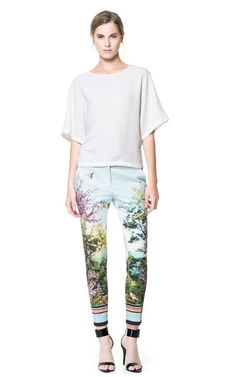 Image 1 of PHOTOGRAPHIC PRINT TROUSERS from Zara