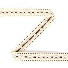 Fita de tecido Navajo 10 (13) - Poliéster - bege claro