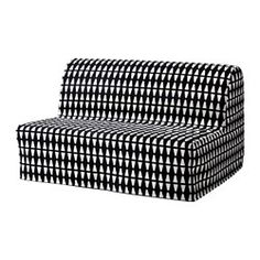The cover is easy to keep clean as it is removable and can be machine washed. Cover made of durable cotton with a geometric pattern. Easily converts into a bed big enough for two. Extra covers make it easy to give both your sofa and room a new look. A simple, firm foam mattress for use every night.