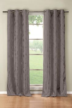Blair Blackout Grommet Curtains - Set of 2 - Grey by DUCK RIVER on @HauteLook