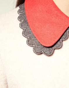 Double Layer Collar - awesome colors - would be easy to make a detachable version!