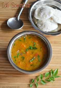 Idli Sambar Recipe - Learn how to make easy sambar for idli dosa along with Sambar Idli Recipe! Veg Recipes, Curry Recipes, Indian Food Recipes, Gourmet Recipes, Vegetarian Recipes, Cooking Recipes, Healthy Recipes, Ethnic Recipes, Sambhar Recipe
