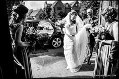 Rosa and her Dad arrive for her wedding ceremony -