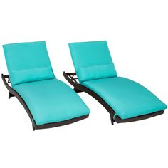 $689 for a set if two TK Classics Bali Chaise Lounge with Cushions