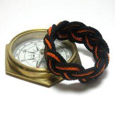 Halloween Bracelet for Sailors Black and Orange by MysticKnotwork only $5 on #etsy #preppy #sailorbracelet #halloween