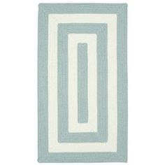 Capel Willoughby Striped Spa Blue Area Rug Rug Size: Concentric 2' x 3'