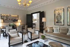Taylor Howes is a London-based luxury interior design practice that specialises in creating luxury interiors for private clients and developers. Lounge Design, House Styles, Formal Living Rooms, Living Dining Room, House Design, Interior Design, Home Decor, House Interior, Room