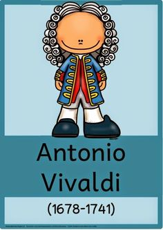 Musik in der Grundschule: Komponistenplakat Antonio Vivaldi K Om, Credit Card Application, Instruments, Music Activities, Music Lessons, Musical, Special Education, Music Songs, Catholic