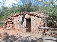 Charles Goodnight's dugout (restored) ... in Palo Duro Canyon in Texas panhandle. Coming on the heels of the Comanche and Kiowa as they were forced onto reservations, Goodnight established a huge cattle ranch from this location and eventually became a multi-millionaire.