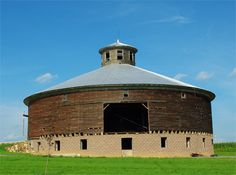 A lot of work has been put into restoring and renovating the old round barn. Here you see that she is on a new and firm foundation that forms a basement . Willow Springs, WI
