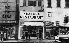 Kramer's and Planters Peanuts, Main and Clinton, Rochester, NY