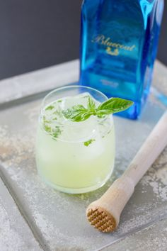 Basil Gin Smash Cocktail recipe—a refreshing spring drink!