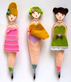 "These adorable ""panty flasher"" ballpoint pen cozies are just a little bit naughty! Handmade by Lori Marie of ""Pretty Little Things"""