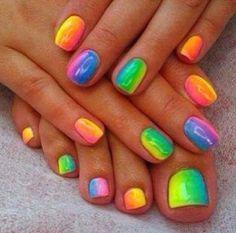 So pretty! Nails and toe nails