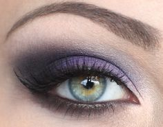 Pretty purple eyeshadow tutorial.