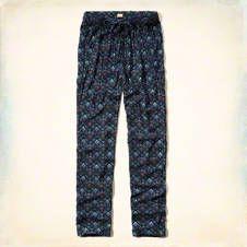 Printed Rayon Twill Pants