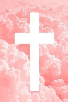 Es Un Cielo Rosa Con Una Cruz En El Medio Blancoo