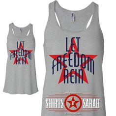 4th July Tank Top - Let Freedom Rein Independence Day Womens Flowy Tanks - Summer Tops