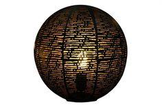 Jimmy Possum. Ball Table Lamp Blk L