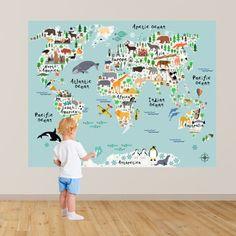 Map of the World Playroom Decal / World Map Wall Decals Kids Map Bedroom Decals Playroom Decals Boys Wall Decal RockyMountainDecals ÉNORME Carte de lautocollant de salle de jeux du monde / Map Bedroom, Wall Decals For Bedroom, Kids Wall Decals, Wall Stickers, Kids Bedroom, Boy Bedrooms, Kids Stickers, World Map Wall Decal, Maps For Kids