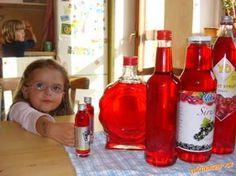 Na růžový sirup můžeme použít jakékoliv květy z pnoucí růže (kvůli barvě se… Whiskey Bottle, Vodka Bottle, Healthy Drinks, Preserves, Pickles, Kimchi, Beverages, Frozen, Food And Drink