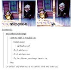 Disney's Frozen and Pixar's Up funny