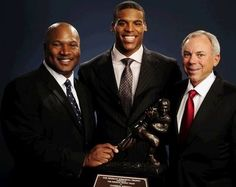 AUBURN, Alabama-- Auburn will unveil statues honoring its three Heisman Trophy winners in a ceremony before its spring A-Day Game on April 14.    The Tigers will honor Pat Sullivan, Bo Jackson and Cam Newton