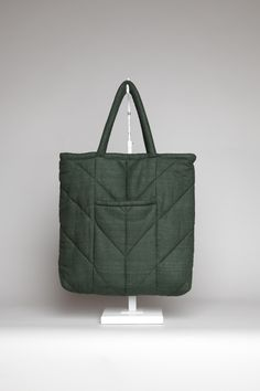 Totokaelo - Electric Feathers - Reversible Chevron Tote Bag - Oz Green...I am going to try to make one like this