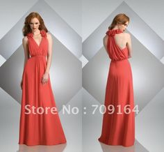 Cheap dress and, Buy Quality dress new directly from China dress women Suppliers: New Fashion Ruffle Halter Deep V-neck Long Chiffon Coral Bridesmaid Dresses New Arrival Dresses Cheap Dresses, Girls Dresses, Prom Dresses, Formal Dresses, Coral Bridesmaid Dresses, Bridesmaids, Chiffon, New Arrival Dress, Hippie Dresses