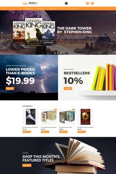 BooksID - Online Book Store MotoCMS Ecommerce Template #65582