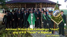 """50 lat KŁ """"Jenot"""" przy KWB Turów z Bogatyni. Koło, które działa przy Kopalni Węgla Brunatnego Turów, zarejestrowało swoją działalność w 1964 r. Liczy 59 członków i gospodaruje w trzech obwodach o łącznej powierzchni 12 tys."""