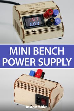 Mini Bench Power Supply Build a small and cheap bench power supply with variable current and voltage settings. Cheap Benches, Simple Arduino Projects, Laser Cut Plywood, Volt Ampere, Exterior Paint Colors For House, Electronic Recycling, Homemade Tools, Electronics Projects, Information Technology
