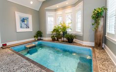 65 luxury small indoor pool design ideas on budget Swimming Pool Pictures, Swimming Pool House, Luxury Swimming Pools, Luxury Pools, Swimming Pool Designs, Dream Pools, Indoor Pools, Small Indoor Pool, Outdoor Pool