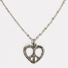 Peace Heart Necklace  | World Market