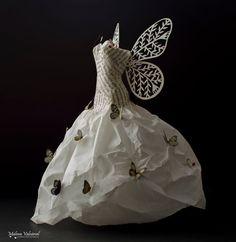 Fairy Paper Dress - Paper Art by MalenaValcarcel